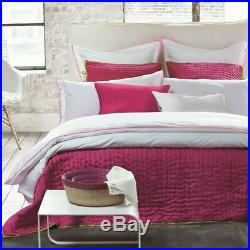 $220 Designers Guild Astor Peony Double Sided Quilted 2 Euro Shams Pink Lime NWT