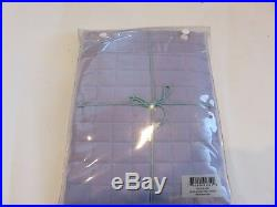 2 Ann Gish Ready to Bed Quilted Box Stitch Euro Shams Linen Cotton Lavender $260