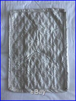 2 Hotel Collection Woven Texture Quilted STANDARD Pillow Shams Ivory