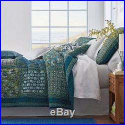 3PCSHandmade King Floral Cotton Quilt Coverlet Bedspread Set Shabby Chic Cottage