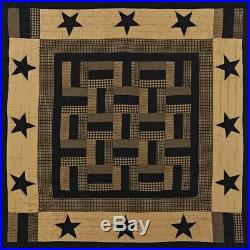 8-pc LUXURY KING Delaware Star QUILT SET Hand Quilted Shams/Pillow Cases/Pillow