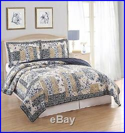 American Traditions Dumont Full/Queen Quilt with 2 Pillow Shams