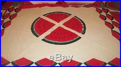 Arch Brand Quilt Watermelon Picnic Pattern 89 X 96 With 4 Pillow Shams Pretty