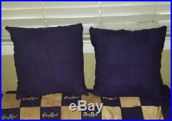 Crown Royal whiskey bags quilt throw, 2 pillow sham purple gold made to order