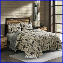 Donna Sharp Forest Weave Quilted Polyester Rustic Country King 3-Piece Set