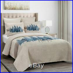 Donna Sharp Watercolor Forest Quilted Country Cottage King 3-Piece Bedding Set