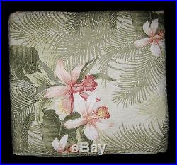 FULL / QUEEN Tommy Bahama Tropical Orchid PILLOW SHAMS & QUILT SET