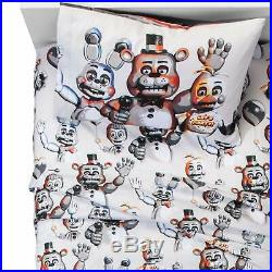 Five Nights At Freddys Fazbear's Pizza (Twin) Quilt, Sham, Bed Sheets & Pillow