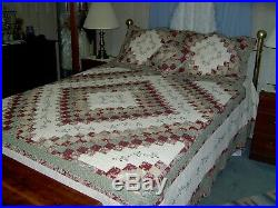 JCP Cassandra Wine Quilted Bedspread, Shams+Throw Pillow 102x118