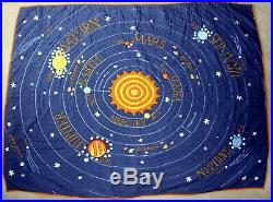 Land of Nod SOLAR SYSTEM Twin Bedding Quilt Sham Throw Pillows Sheets Lamp +More