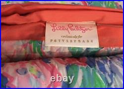 Lilly Pulitzer Pottery Barn Fan Sea Pants King/Cal kg Quilt, Kg Shams Pillow NWT