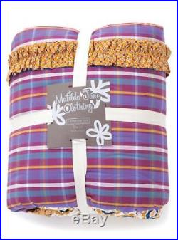 Matilda Jane IN STITCHES Quilt Full Queen + 2 BED OF ROSES Euro Pillow Shams NEW