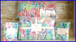 NEW Pottery Barn Kids Lilly Pulitzer MERMAID COVE FULL/QUEEN Quilt Shams Pillow