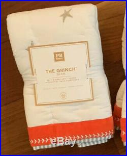 NWT Pottery Barn 3Pc 2019 GRINCH TWIN QUILT STD Sham & CINDY Pillow CHRISTMAS