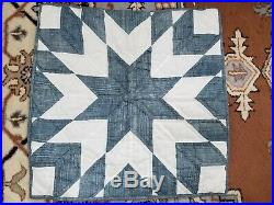 Pottery Barn All Cotton Queen Star Quilt Set with 2 Euro Pillow Shams