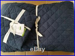 Pottery Barn Belgian Flax Linen Diamond Quilted Quilt King with 1 Standard #3417
