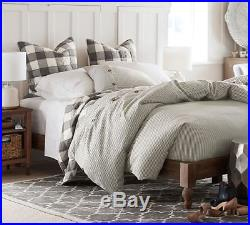 Pottery Barn Buffalo Check Sham Euro Sized Sham Gray New Authentic Hand Quilted