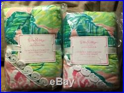 Pottery Barn KID Lilly Pulitzer Party Patchwork Quilted Set 2 Standard Shams NEW