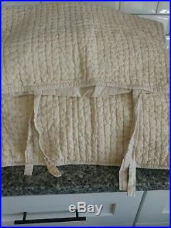 Pottery Barn King Duvet Set with 4 shams and 2 decor pillows Quilted Coverlet ld