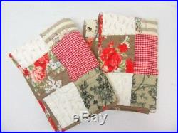 Pottery Barn Providence Patchwork Quilted Std. Pillow Shams (Set of 2)