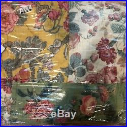 Pottery Barn Shirley Floral Reversible King Quilt 2 King Shams Nwts
