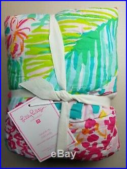 Pottery Barn Teen Lilly Pulitzer Orchid Floral Organic Quilted Sham Std #2798