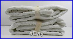 Pottery Barn Washed Cotton Trellis Quilted S/2 King Shams White #6898