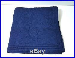 RALPH LAUREN Home Collection Palm Harbor Navy Blue Quilted EURO SHAM