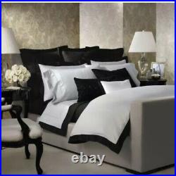 Ralph Lauren home Onyx Black 2 quilted pillow cases shams new