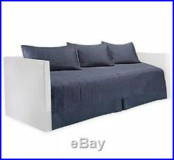 Real Simple Daybed Bedding Set Dune Ink Blue