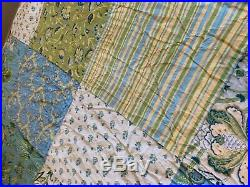 The Company Store King Size Patchwork Quilt and Two Standard Shams
