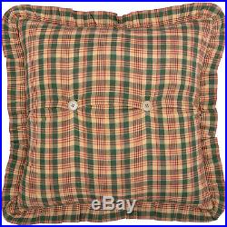 VHC Rustic Country Patchwork Quilt Bedspread Set Queen King Reversible Plaid Tan