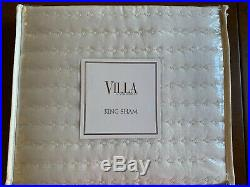 Villa Noble Excellence Amalfi Square Quilted King Coverlet & Shams Birch Cream