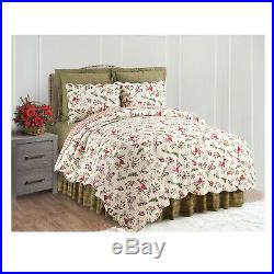 Winter Birds Reversible Bed Quilt and Pillow Shams Sets -Full/Queen or King Size